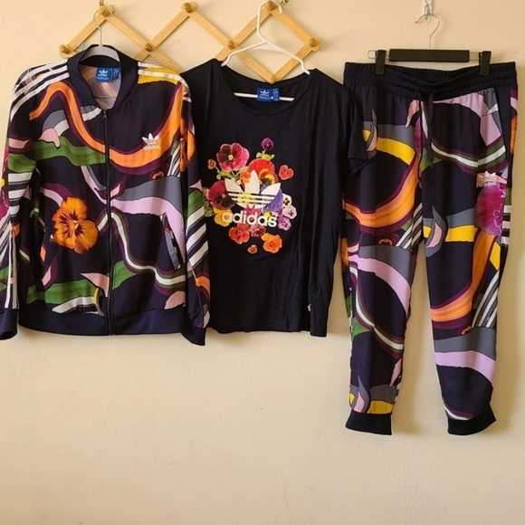 3Pc Floral Adidas Set